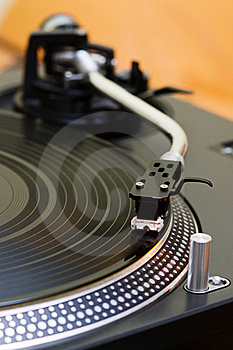 Turntable Playing Vinyl Record Royalty Free Stock Photo - Image: 16294575
