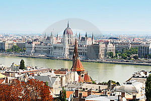Hungarian Parliament, Budapest On Summer Stock Image - Image: 16295291