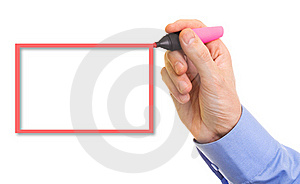 Hand With Marker Royalty Free Stock Photography - Image: 16299007