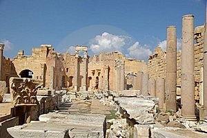 Roman Basilica, Libya Stock Image - Image: 16299211