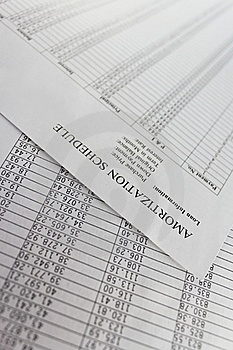 Amortization Schedule Stock Photo - Image: 16299220