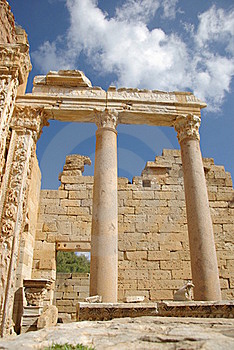 Roman Columns, Libya Royalty Free Stock Photo - Image: 16299325