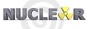 Black Word Nuclear - Yellow Symbol Royalty Free Stock Photos - Image: 16299608