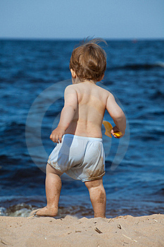 Child On A Beach Royalty Free Stock Photography - Image: 16299897