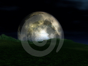 Moon View 8 Free Stock Photography
