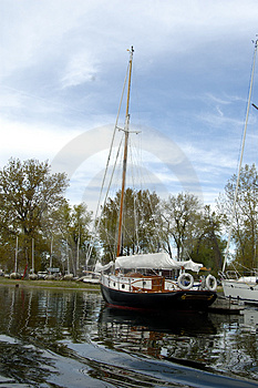 Boat In A Marina Stock Image - Image: 1636321