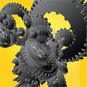 Gears Black Royalty Free Stock Image - Image: 1639966