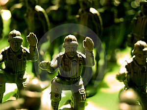 Plastic Green Army  1 Royalty Free Stock Photography - Image: 1639967