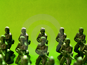 Plastic Green Army  4 Stock Images - Image: 1639984