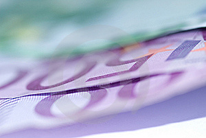 Close Up Of Euro Bills Stock Image - Image: 16300661