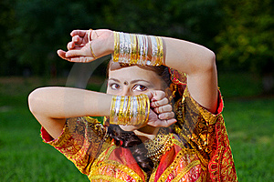 A Young Indian Woman Hiding Face Stock Images - Image: 16301354