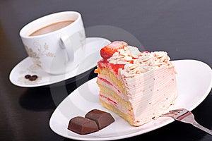 Strawberry Cake Stock Image - Image: 16303191