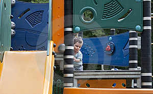 Child In Playground Royalty Free Stock Photos - Image: 16304718