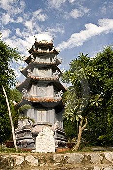 Marble Mountains Pagoda Stock Photo - Image: 16305760