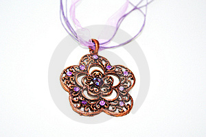 Violet Necklace Stock Photography - Image: 16306342