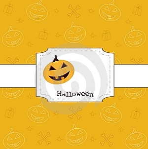 Halloween Card Royalty Free Stock Images - Image: 16306599