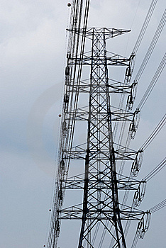Electric High Voltage Post Royalty Free Stock Photography - Image: 16306847