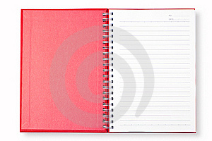 Open Red Note Book Stock Photos - Image: 16308263