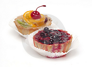 Fruit Cupcake With Cherry Stock Photo - Image: 16308450
