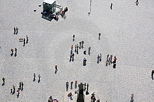 People On A Square Royalty Free Stock Photos - Image: 16308788