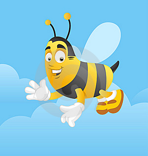Happy Bee Greeting Stock Photography - Image: 16309572