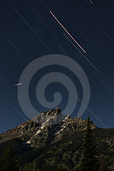 Grand Teton In Stars Stock Image - Image: 16310251