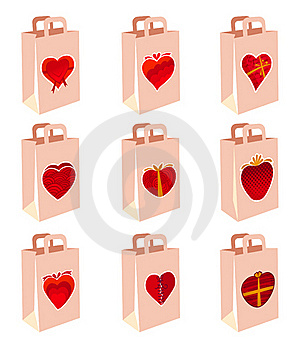Love Decoration Shopping Bag Stock Image - Image: 16310691