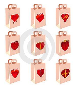 Love Decoration Shopping Bag Stock Image - Image: 16310691