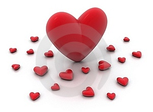 Red Hearts On White Background Stock Photos - Image: 16310773