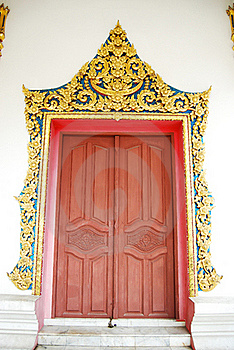 Ancient Buddha Temple Door Royalty Free Stock Image - Image: 16312566