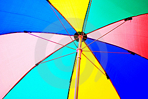 Under Colorful Beach Umbrella Royalty Free Stock Image - Image: 16312616