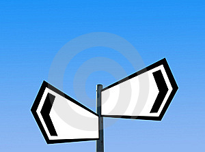 Blank Signpost Royalty Free Stock Photography - Image: 16314527