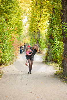 Family In Autumn Park Royalty Free Stock Photo - Image: 16316435