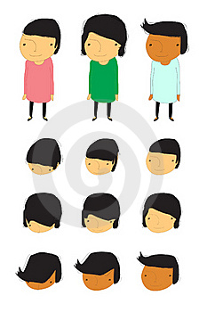 Group Of Children With Face Action Stock Photos - Image: 16319953