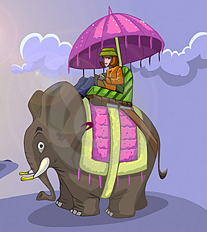 King Style Elephant Ride Royalty Free Stock Photography - Image: 16320877