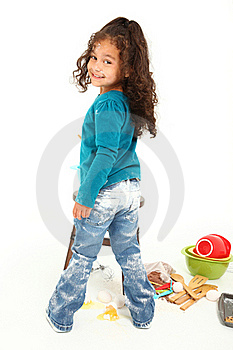 Child Baking Royalty Free Stock Photos - Image: 16321908