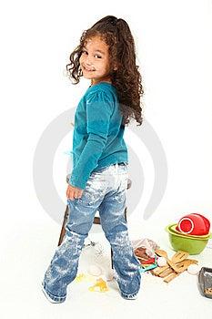 Child Baking Royalty Free Stock Photos - Image: 16321908