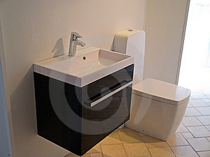 Modern Contemporary Designer Bathroom Stock Photo - Image: 16322800
