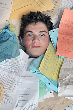 Too Much Homework Assignments Stock Images - Image: 16323644