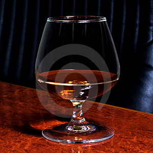 Snifter Glass Of Cognac Stock Photo - Image: 16330420