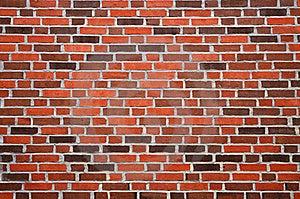 Wall With Reddish-brown Brick Royalty Free Stock Image - Image: 16336396