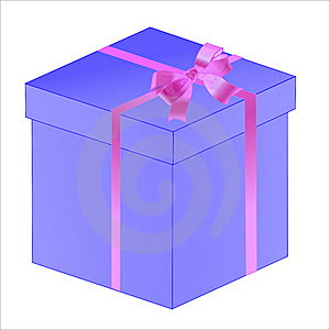 Gift White Box With Ribbon Bow Isolated Royalty Free Stock Images - Image: 16336729