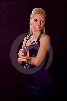 Girl With A Glass Stock Images - Image: 16337184