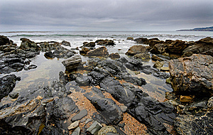 Tide Pools On Beach Shoreline Royalty Free Stock Photo - Image: 16337535