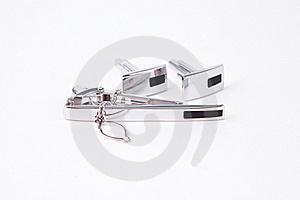Silver Cuff-link Stock Images - Image: 16338794