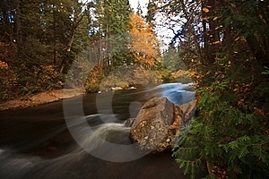 Fall Color White Rapid Stock Image - Image: 16339551