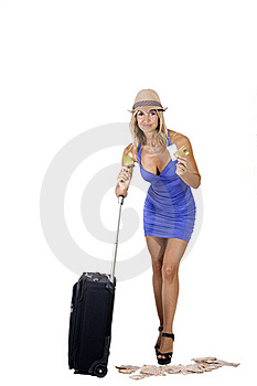 Travelling Woman Stock Image - Image: 16340681