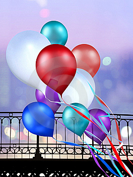 Multicolored Balloons Royalty Free Stock Photo - Image: 16342575