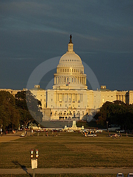 The Capitol In Dc During Sunset Stock Image - Image: 16342581