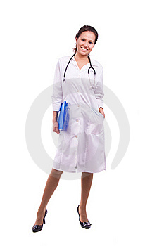 Friendly Nurse Holding Chart Royalty Free Stock Photos - Image: 16344098